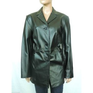 NEW Caslon Lambskin Leather Coat  Final Price